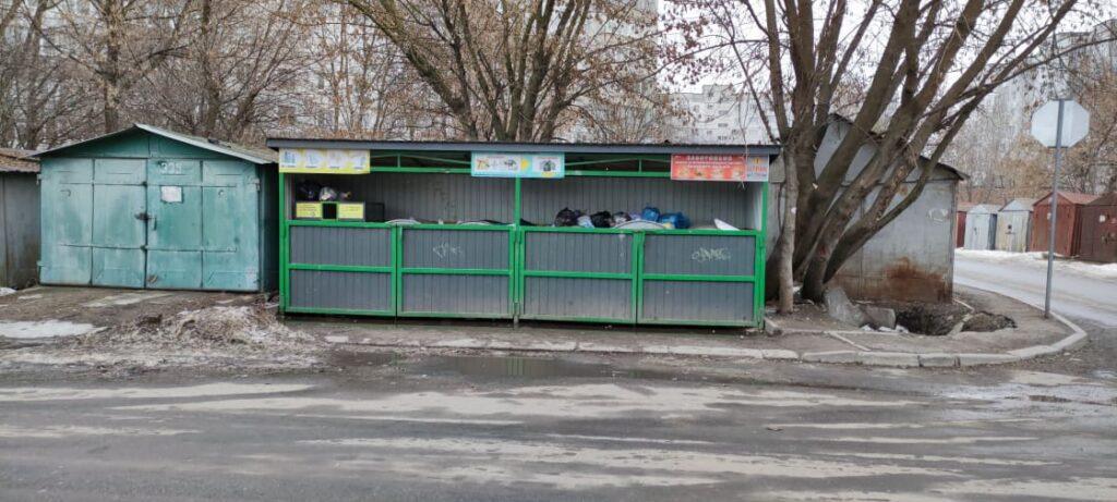 Контейнерний майданчик на вул.. Чкалова. Фото авторок